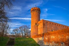Architecture of medieval Teutonic Castle in Swiecie. Medieval Teutonic Castle in Swiecie, Poland Royalty Free Stock Images