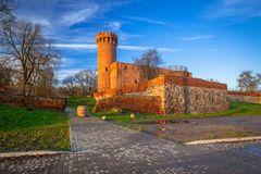 Architecture of medieval Teutonic Castle in Swiecie. Medieval Teutonic Castle in Swiecie, Poland Stock Image