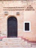Architecture of Medina village in Agadir, Morocco. Architecture of new Medina village by Coco Polizzi in Agadir, Morocco Royalty Free Stock Photo