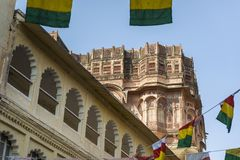 Architecture of Mehrangarh Fort in Jodhpur, India Stock Photos