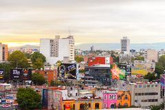 Architecture of Mexico DF royalty free stock photo