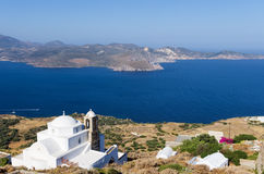Architecture in Milos island, Cyclades, Greece Royalty Free Stock Photo