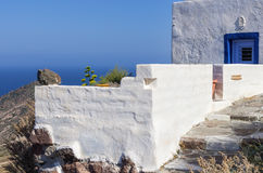 Architecture in Milos island, Cyclades, Greece Stock Images