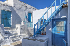 Architecture in Milos island, Cyclades, Greece Royalty Free Stock Photography