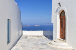Architecture in Milos island, Cyclades, Greece Royalty Free Stock Images