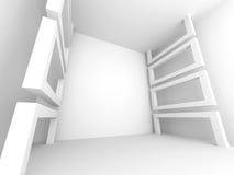 Architecture Minimalistic Design White Background. 3d Render Illustration Stock Photography