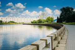 Architecture Of Minsk, From District Nemiga Royalty Free Stock Photos