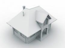 Architecture model house. On white background Stock Photos