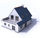 Architecture model, house b. 3D architecture model of a house Royalty Free Stock Image