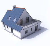 Architecture model, house a. 3D architecture model of a house Stock Photo