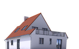 Architecture model, house e. 3D architecture model of a house Royalty Free Stock Photo