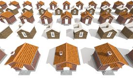 Architecture model houses  on white Royalty Free Stock Images