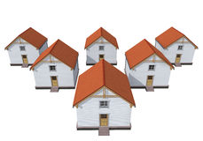 Architecture model private houses Royalty Free Stock Photos
