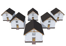 Architecture model private houses Stock Image
