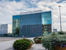 Architecture in the modern city centre of Almere, The Netherland Stock Photo