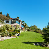Architecture, modern villa Stock Image