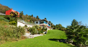 Architecture, modern villa Royalty Free Stock Image