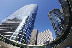 Architecture moderne à Houston du centre Photo stock
