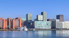 Architecture moderne au centre de la ville de Rotterdam, Pays-Bas Photographie stock libre de droits