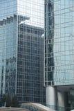 Architecture moderne, bâtiment, mur rideau en verre photographie stock