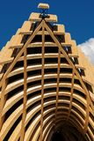 Architecture moderne - bois de construction stratifié collé image stock