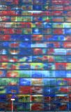 Architecture moderne colorée du musée du bruit et de la vision à Hilversum, Pays-Bas Image stock