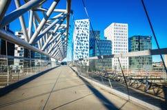 Architecture moderne d'affaires au centre d'Oslo, Norvège Photographie stock libre de droits