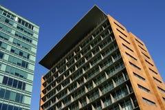 Architecture moderne de bureaux de construction Image libre de droits