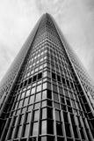 Architecture moderne de Hong Kong noire et blanche Photo stock