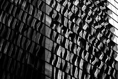 Architecture moderne de Hong Kong noire et blanche Image stock