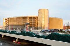 Architecture moderne de la construction de stationnement de véhicule Image libre de droits