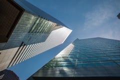 Architecture moderne de Manhattan Photo libre de droits