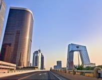 Architecture moderne de Pékin au lever de soleil image libre de droits