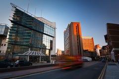 Architecture moderne en île des chiens, Londres Image stock
