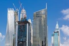 Architecture moderne en construction à Dubaï photos libres de droits