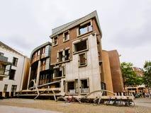 Architecture moderne, extension de l'hôtel de ville d'Utrecht dans le style de deconstructivism images stock