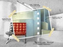 Architecture moderne pour le projet restyling illustration stock