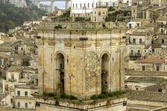 Architecture in Modica - Italy stock image
