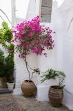 Architecture of the monastery of Saint John the Theologian in Patmos island, Dodecanese, Greece. Architecture of the monastery of Saint John the Theologian in Stock Photos