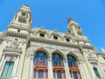 Architecture of the Monte Carlo casino. A photo of the Monte Carlo Casino from the back of the building Royalty Free Stock Images