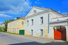 Architecture monuments of 18th - 19th century in the centre of Torzhok city, Russia Royalty Free Stock Image