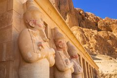 Mortuary Temple of Queen Hatshepsut in Egypt. Architecture of the Mortuary Temple of Queen Hatshepsut in Egypt royalty free stock photos