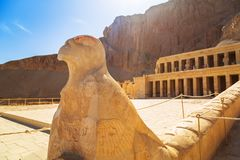 Mortuary Temple of Queen Hatshepsut in Egypt. Architecture of the Mortuary Temple of Queen Hatshepsut in Egypt stock photos
