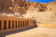 Mortuary Temple of Queen Hatshepsut in Egypt. Architecture of the Mortuary Temple of Queen Hatshepsut in Egypt royalty free stock image