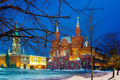 Architecture of Moscow in the evening. Royalty Free Stock Images