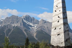 Architecture in the Mountains of Canmore Alberta Stock Photo