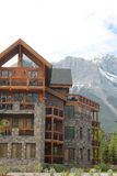 Architecture in the Mountains of Canmore Alberta Stock Image