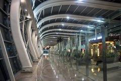 Architecture of Mumbai airport terminal stock photography