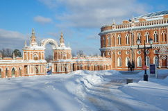 The architecture of the Museum-reserve `Tsaritsyno` Royalty Free Stock Image