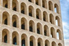 Architecture néoclassique dans le secteur d'EUR, Rome, Italie photos libres de droits